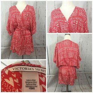 Victoria's Secret Sweetheart Kimono Robe Red